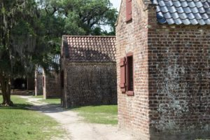 the african-american exhibit is hosted in the old slave quarters at boone hall plantation and gardens in mount pleasant, sc