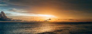 sunset over one of the beaches near charleston sc