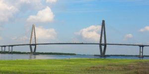 Walking the Ravenel bridge or seeing it from the Magnolia Cemetery is one of the free things to do in Charleston, SC