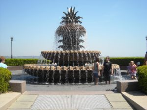 wading in the pineapple fountain is one of the best free things to do in charleston, sc