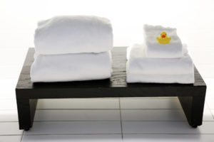towels displayed tastefully at one of the best boutique hotels in downtown Charleston, SC